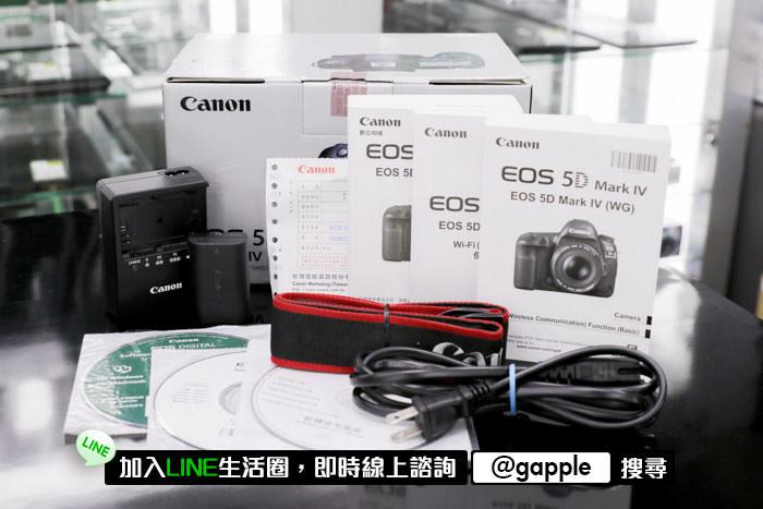 canon 5d4 盒裝/充電器/電池/保卡/肩帶/說明書/光碟